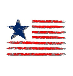 American flag grunge celebration Independence Day vector image vector image
