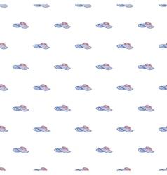 Beach hat pattern cartoon style vector image vector image