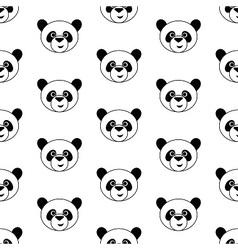 Cute panda pattern vector image vector image