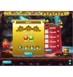 Example of user interface of a computer game a vector image vector image