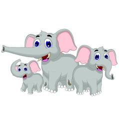 funny elephant cartoon family vector image