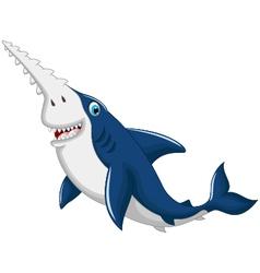 funny shark saws cartoon vector image vector image