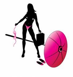 girl in bikini vector image vector image