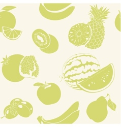 Green fruits seamless pattern vector image