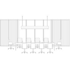 meeting room line interior vector image