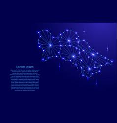 Turkmenistan map of polygonal mosaic lines network vector