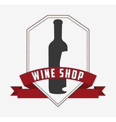 best wine design vector image vector image