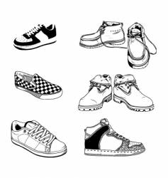 casual men shoes vector image