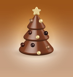 Chocolate tree christmas food concept vector image vector image