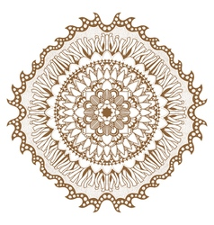 Circular floral ornament vector