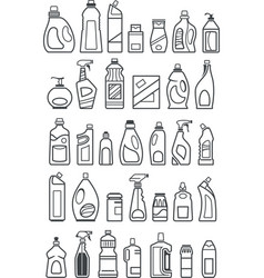 household chemicals icons vector image vector image
