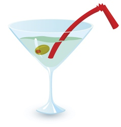 martini alcohol cocktail vector image
