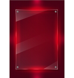 Red digital background and glass panels vector image vector image