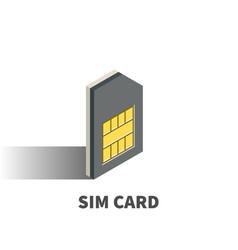 sim card icon symbol vector image