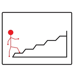 Walking up the stairs vector image