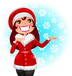women in winter vector image vector image