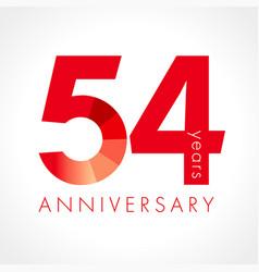 54 anniversary logo vector