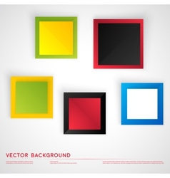 Abstract geometric shape from color cubes vector