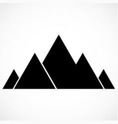 abstract mountain logo mountains icon vector image