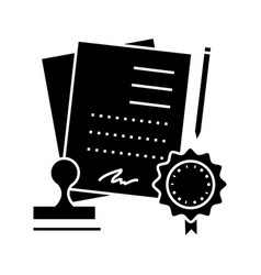 Agreement contract icon sig vector