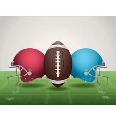 American Football Helmets Landscape vector image