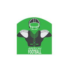 American football uniform armor and helmet rugby vector