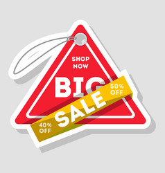 Big sale isolated advertising sticker vector