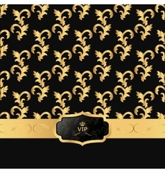 Black and gold background with a horizontal strip vector image
