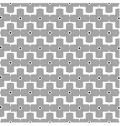 black and white monochrome geometric pattern vector image