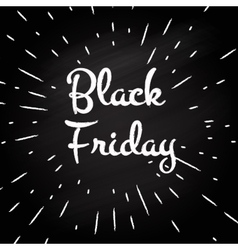 Black Friday -typographic design vector image