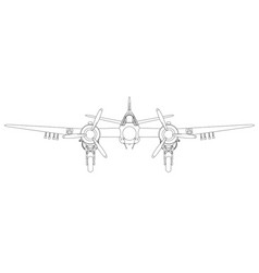 Bristol beaufighter vi and x front vector
