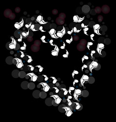 Butterflies forming a loving heart icon vector