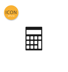 calculator icon isolated flat style vector image