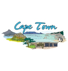 Cape town doodles vector