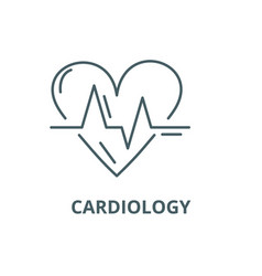 cardiology line icon cardiology outline vector image