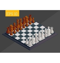 Chessboard isometric vector