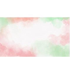christmas and green watercolor splash vector image