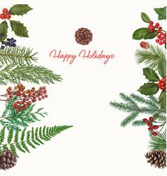 Christmas hand drawn decoration vector
