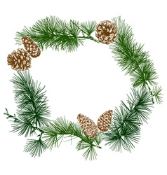 Christmas wreath banner design vector