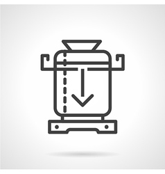 Coffee mill line icon vector