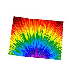 Colorado - map is designed rainbow abstract vector