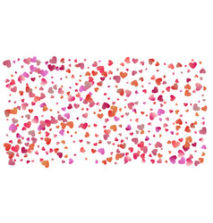 colored heart confetti for womens holidays vector image