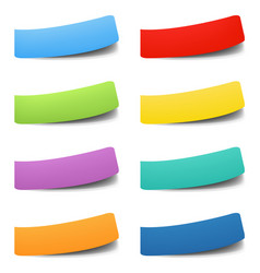 colorful labels isolated white background vector image