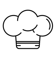 cooker hat icon outline style vector image