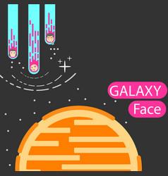 Corporatedesign face galaxy vector