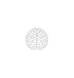 Creative poly brain logo design template vector