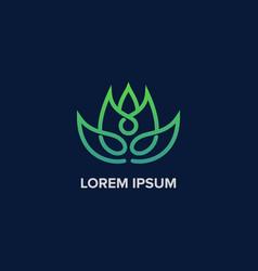 creative yoga leaf logo modern logo vector image