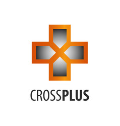 cross plus logo concept design symbol graphic vector image