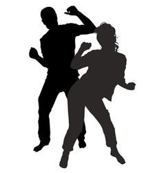 Dancing men and women vector