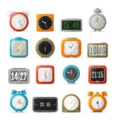 digital and analog alarm clock set vector image